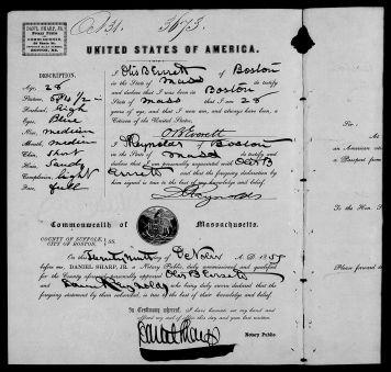 Otis Blake's passport for travel to India