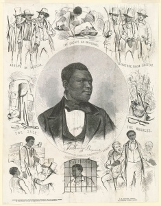 Image of Anthony Burns poster depicting the his rendition case in Boston