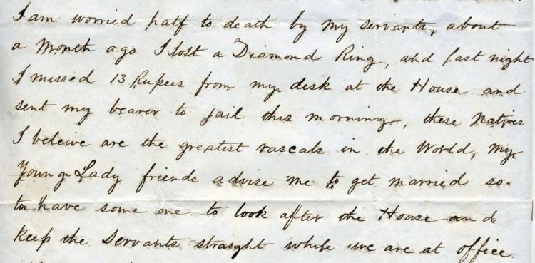Otis Blake writes about sending a servant to jail.